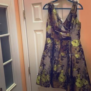 Dark flower vintage dress